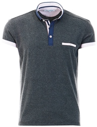 Ottomoda Charcoal Short Sleeve Polo Shirt