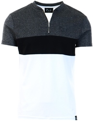 Pre London Black/White Marseille Zip T-Shirt