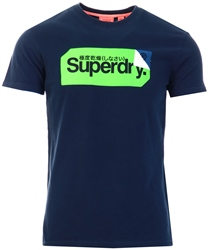 Superdry Eclispe Navy Core Logo Tag T-Shirt