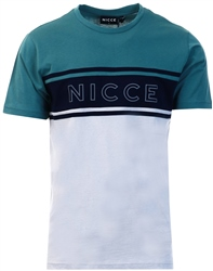 Nicce Grey /Multi Colour Panel T-Shirt