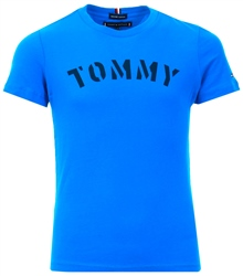 Imperial Blue Essential Organic Cotton Logo T-Shirt by Tommy Jeans