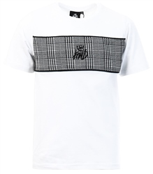 White Junior Milltown Check T-Shirt by Kings Will Dream