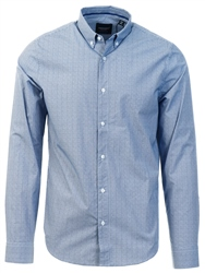 Superdry Mid Blue Grit Edit Button Down Shirt