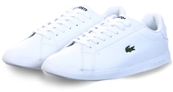 White Graduate Leather And Synthetic Sneakers by Lacoste