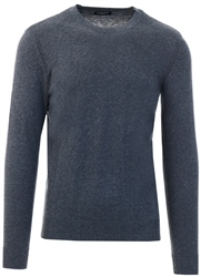 Grey Daniel Crew Sweater by Selected