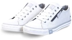 Mustang White Lace Up Trainer