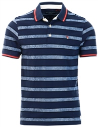 Jack & Jones Dark Navy Paulos Stripe Polo Shirt