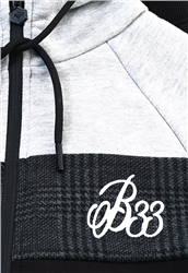 Bee Inspired Black Zip Up Hoodie