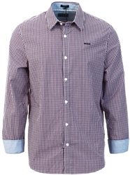 Guess Red Micro Check Shirt