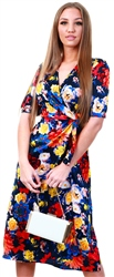 Veromoda Night Sky / Lillian Floral Printed Midi Dress