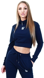 Siksilk Navy Zonal Track Top