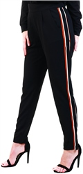 Black / Black Track Trousers by Jdy