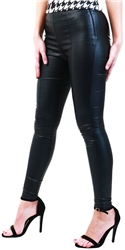 Black Faux Leather Leggings by Ax Paris