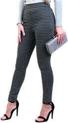 Jdy Black / Check Pattern Leggings