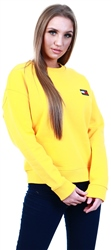 Tommy Jeans Yellow Logo Relaxed Fit Sweatshirt