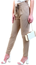 Veromoda Brown / Silver Mink High Waist Trousers