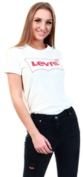 Levi's Outline Tee White - White Graphic Sport Tee
