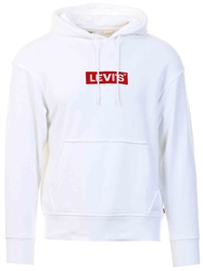 Levi's Boxtab Po White - Neutral Relaxed Graphic Hoodie