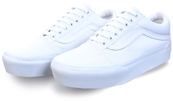 Vans True White Platform Old Skool Shoes