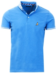 Brave Soul Blue Short Sleeve Polo Shirt