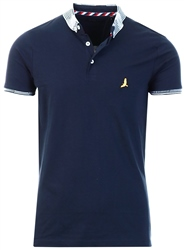 Navy Short Sleeve Polo Shirt by Brave Soul