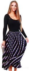 Only Blue / Night Sky Lisa Pleated Midi Skirt