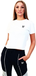 11degrees White Core Cropped T-Shirt