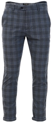 Jack & Jones Dark Grey/ Blue  Marco Check Chinos