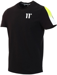 11degrees Black/Lime Dot Fade Panel Tee