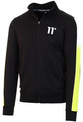 11degrees Black/Lime Dot Fade Poly Track Top
