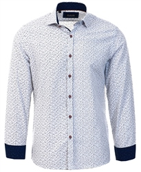 Alex & Turner White Floral Print Shirt