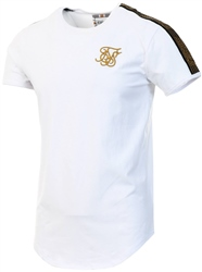 Siksilk White Gold Edit Runner Gym Tee