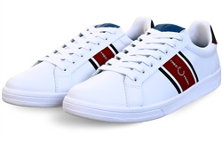 Fred Perry White B721 Leather / Webbing Trainer