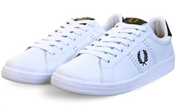 Fred Perry White B721 Leather Trainer