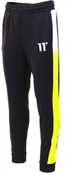 11degrees Black/Lime Dot Fade Poly Track Joggers