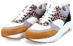 Bull Boxer Multi Leopard Chunky Lace Up Sneaker
