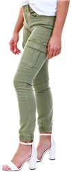Only Green / Oil Green Regular Cargo Trousers