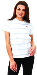 Levi's Alyssa Stripe Cloud Dancer - Multi Colour The Perfect Tee