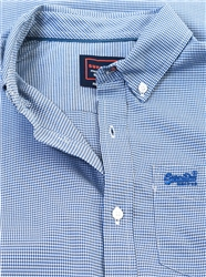 Superdry Gingham Royal Classic London Long Sleeve Shirt
