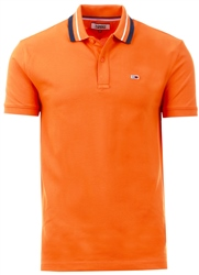 Tommy Jeans Russet Orange Tommy Classics Logo Tape Polo