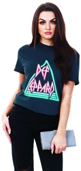 Only Black / Black Def Leppard Front Print T-Shirt