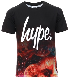 Hype Blue/Black Galaxy Moons Fade Kids T-Shirt
