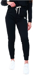 Siksilk Black Leopard Panel Track Pants