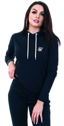 Siksilk Black Leopard Hooded Track Top