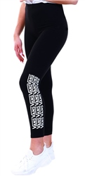 Vans Black Chalkboard Fair Well Leggings