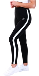 Gym King Black/White Linear Legging