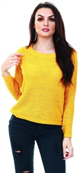 Only Yellow / Mango Mojito Texture Knitted Pullover