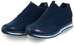 Marco Tozz Navy Slip On Studded Trainer
