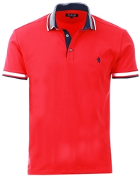 Alex & Turner Red Short Sleeve Polo Shirt