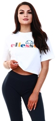 Ellesse White Ralia Crop T-Shirt